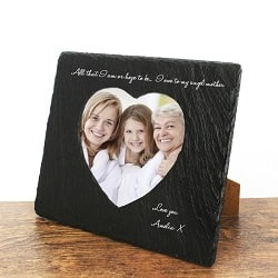 Angel Mother Heart Slate Photo Frame