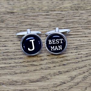 Typewriter Key Style Cufflinks