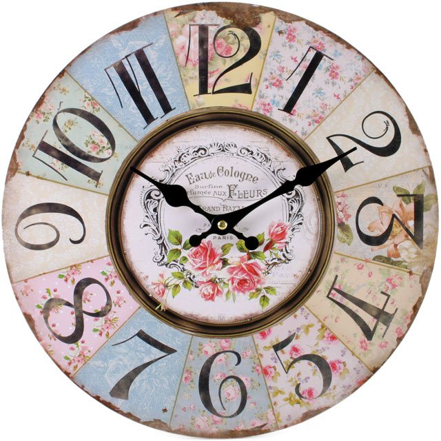 Shabby Chic Patchwork Wall Clock