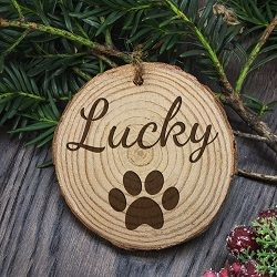 Personalised Engraved Family Dog Christmas Tree Decoration