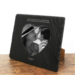 God Made Mothers Heart Slate Photo Frame