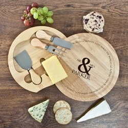 Love Makes The World Go Round Cheese Board