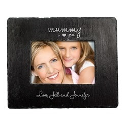 Love You Mummy Slate Landscape Photo Frame
