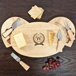 Monogram Feature Classic Cheese Board Set