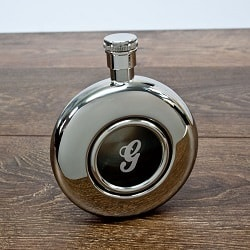 Monogram Nautical Flask