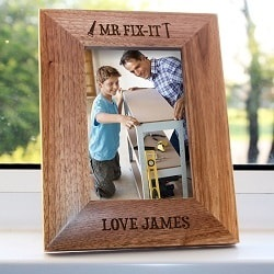 Personalised Mr.Fix it Engraved Photo Frame