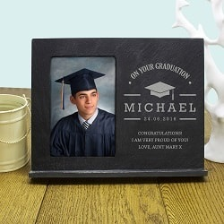 On Your Graduation Personalised Slate Frame