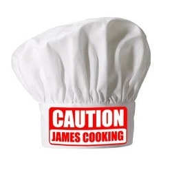 Personalised Caution Chefs Hat