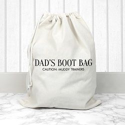 Personalised Cream Boot Bag