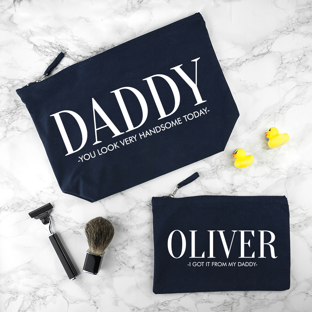 Personalised-Daddy-&-Me-Navy-Wash-Bags