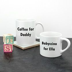 Personalised Daddy And Me Tea Time Mugs