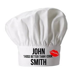 Personalised I Kiss Better Than I Cook Chef Hat