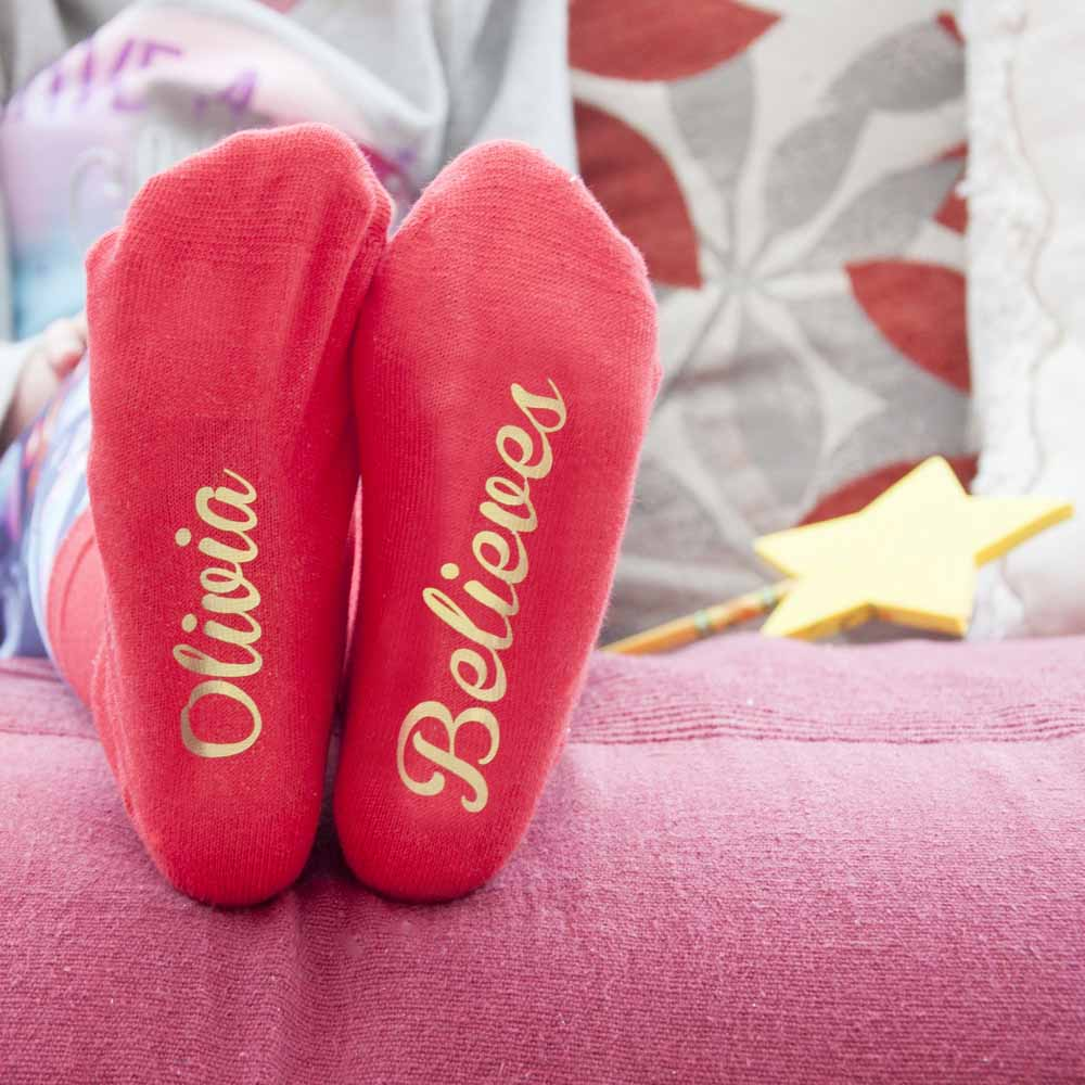 Personalised-Kids-Crimson-And-Gold-Christmas-Day-Socks