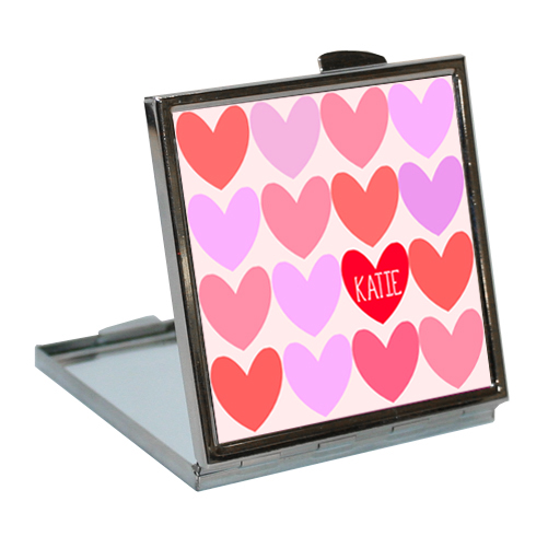 Personalised-Love-Hearts-Compact-Mirror