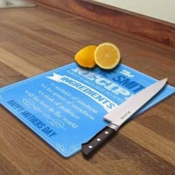 Personalised Recipe of Mum Chopping Board