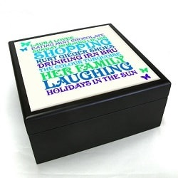Personalised Word Art Jewellery Box