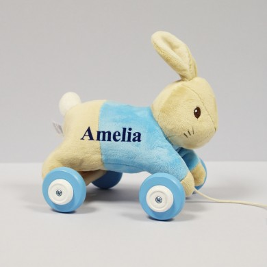 Personalised Peter Rabbit Personalised Pull Along Toy