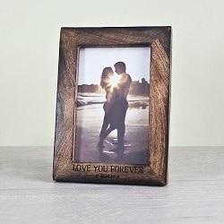 Single Portrait Photo Frame Darkened Wood
