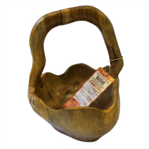 Teak Root Basket Approx 25cm
