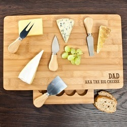 Personalised The Big Cheese Bamboo Cheese Board