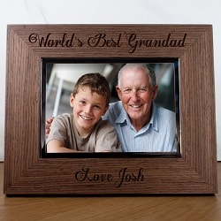 Worlds Best Grandad Engraved Photo Frame