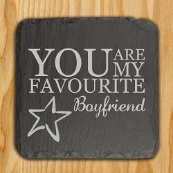 Personalised You are my Favourite Slate Keepsake