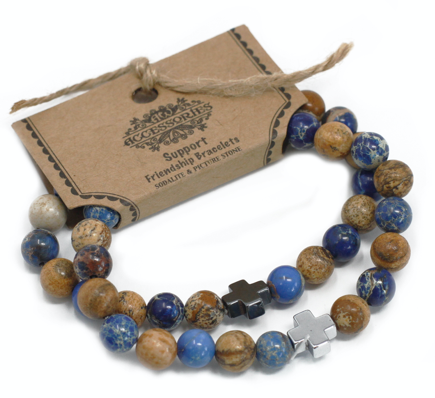 2 Gemstones Friendship Bracelets
