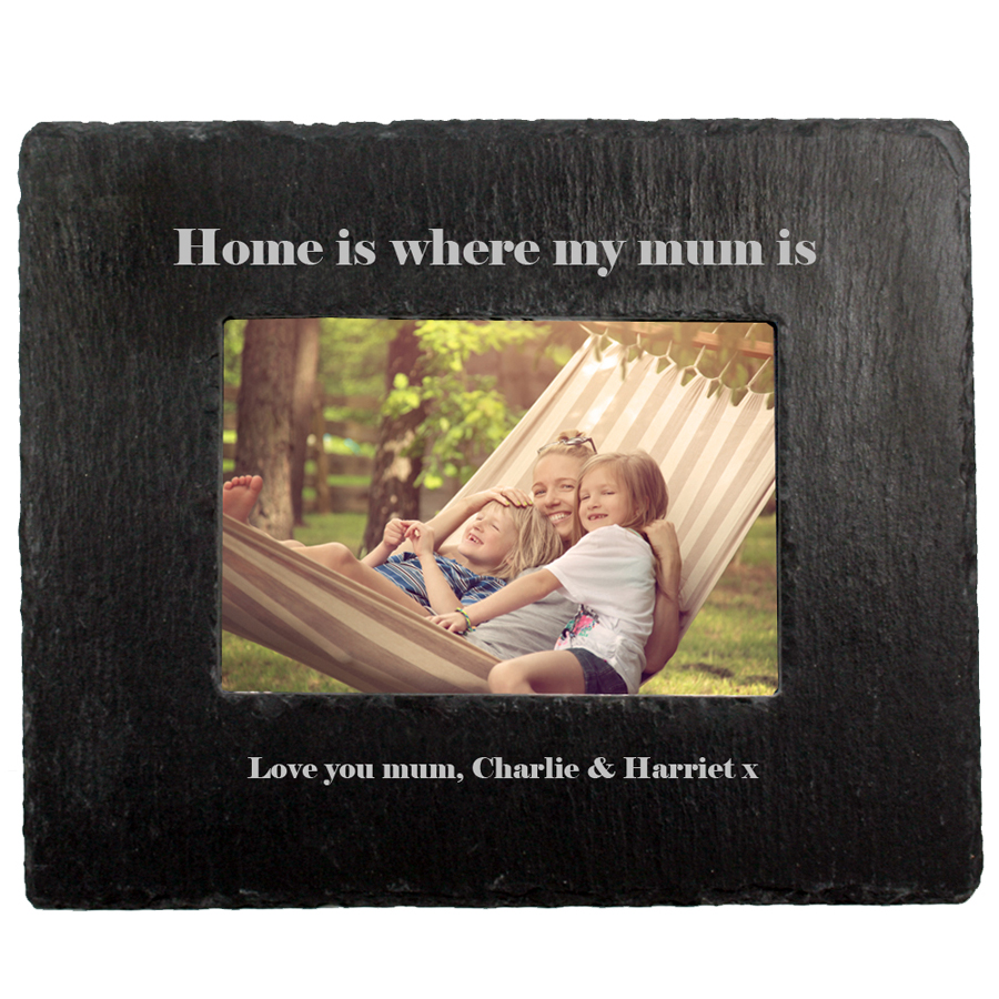 Home Is Where Mum Is Slate Photo Frame