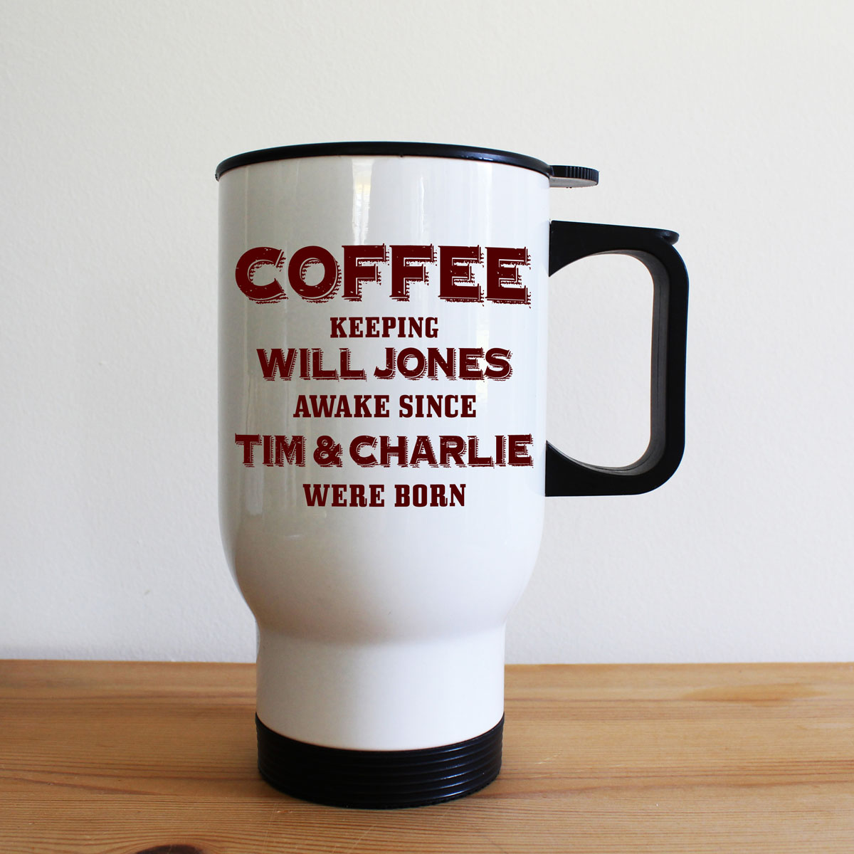 Keeping Dad Going White Travel Mug
