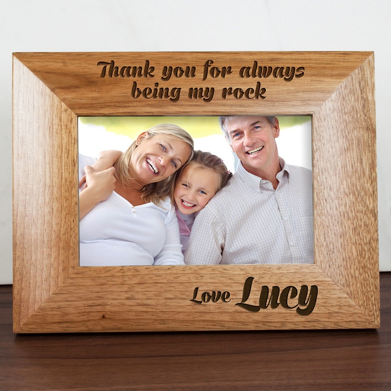 My Dad Is My Rock Engraved Photo Frame