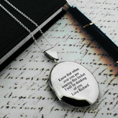 Personalised Large Oval Necklace