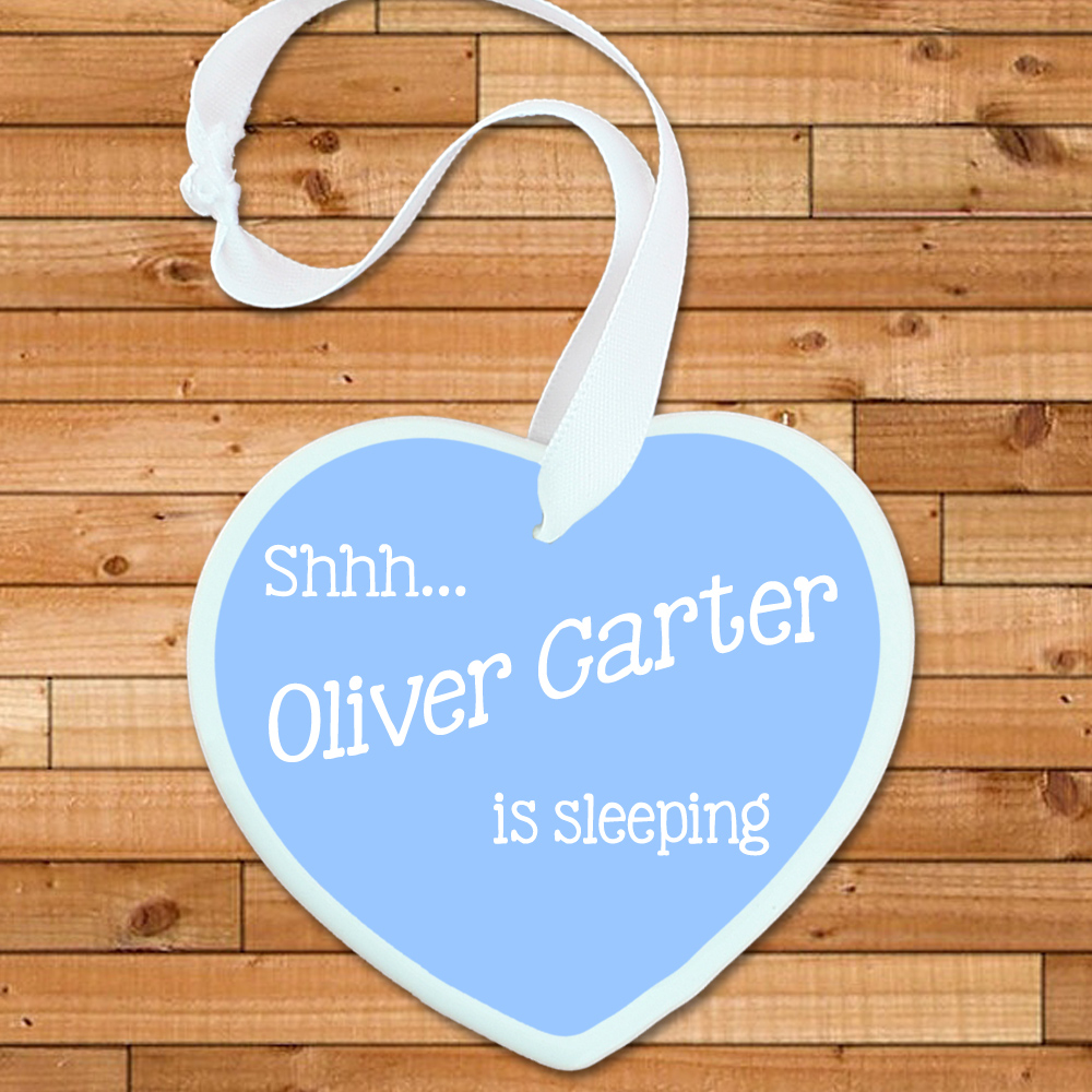 Personalised Shhh Baby's Sleeping Heart
