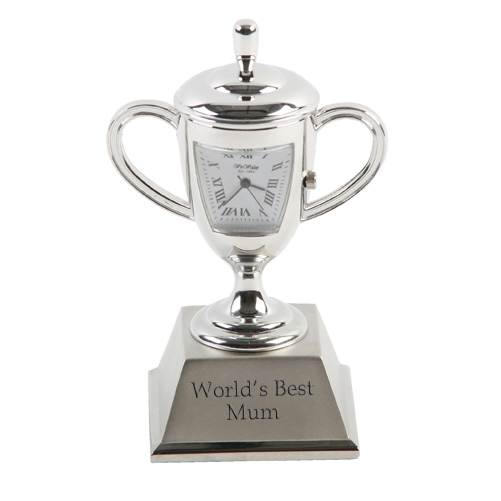 Personalised Small Trophy Clock