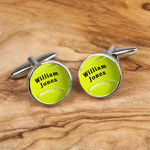 Personalised Tennis Ball Cufflinks