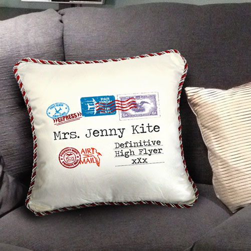 Personalised Airmail Cushion - High Flyer