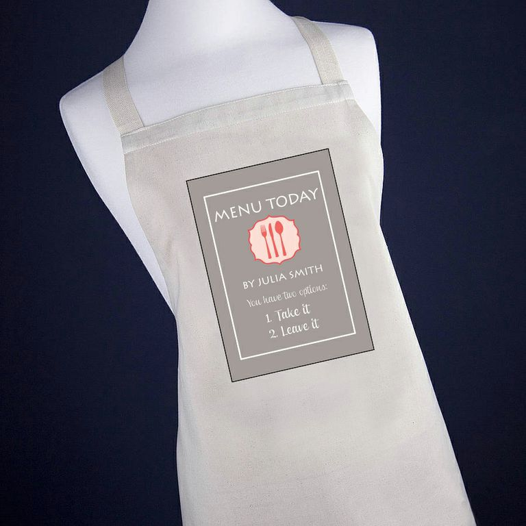 Personalised Today's Menu Apron